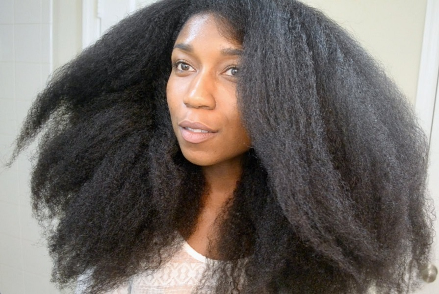 blowout on curly hair